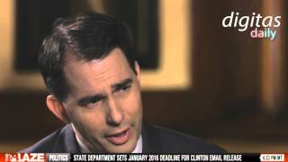 Scott Walker Talks Ultrasounds With Dana Loesch - ACTUAL QUOTE
