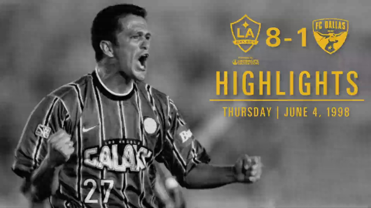 EXTENDED HIGHLIGHTS: LA Galaxy 8, Dallas Burn 1 in 1998 | Harut Karapetyan's 5-minute hat trick