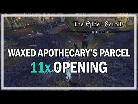 NEW 11 WAXED APOTHECARY PARCEL OPENING - The Elder Scrolls Online