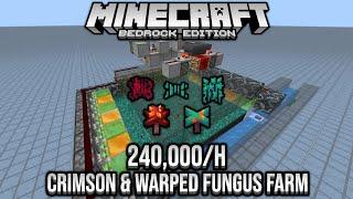 240,000/h Crimson & Warped Fungus Farm Showcase Minecraft Bedrock 1.16 Nether Update Beta