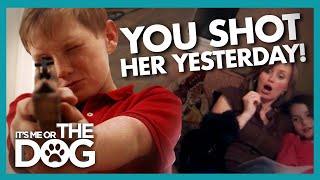 Mischievous Kids Taught to Stop Rough Play With Nervous Dog | It's Me or the Dog