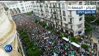 الجزائر تنتفض في الجمعة 14.. مسيرات ضخمة وهتافات قوية