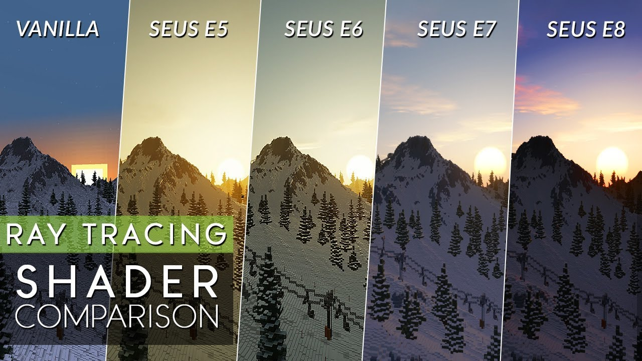 Evolution of SEUS PTGI Ray Tracing E5 - E8 vs Vanilla Comparison