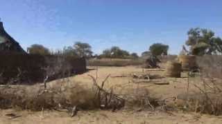 Driving in rural Darfur, Sudan