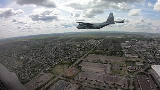 Minnesota National Guard Flyovers Cockpit View
