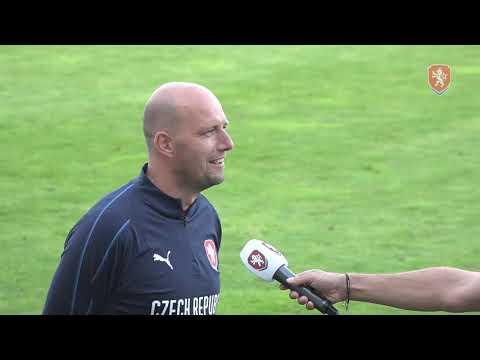 U18   Rozhovory s trenérem Petrem Havlíčkem a záložníkem Samuelem Grygarem
