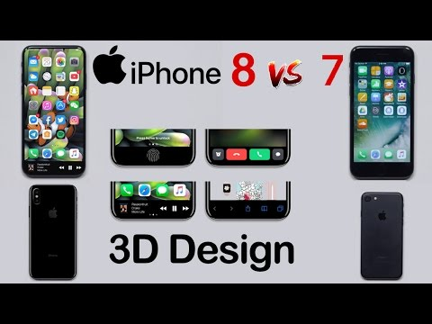 THE REAL IPHONE 8 3D & Mockup Design HANDS ON | Apple iPhone 8 vs iPhone 7 Comparison (EXCLUSIVE)!