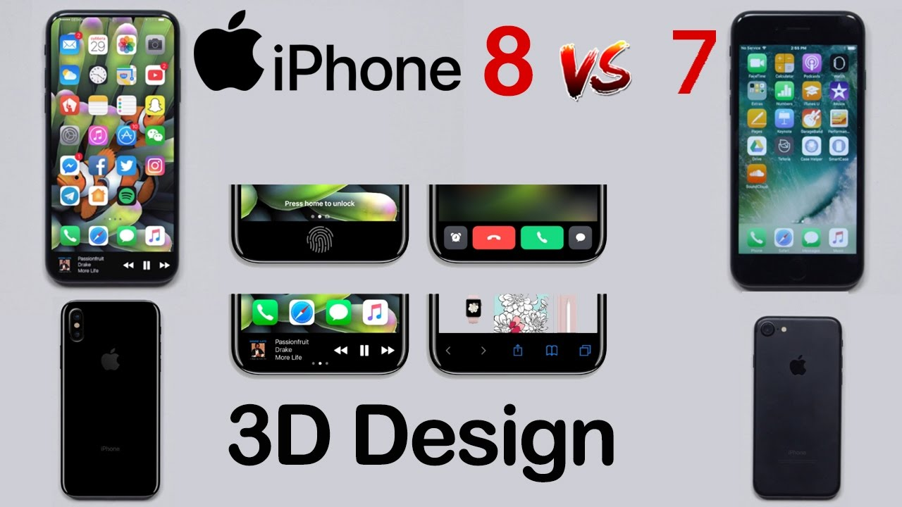 THE REAL IPHONE 8 3D & Mockup Design HANDS ON