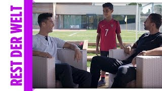Mini-Ronaldo crashed Interview und kickt mit dem Papa