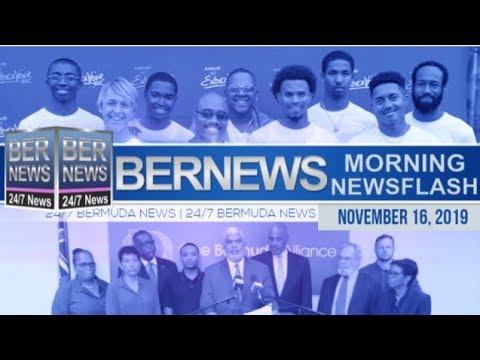 Bermuda Newsflash For Saturday, November 16, 2019