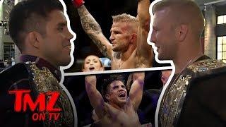 It's A UFC Champ Showdown In The TMZ Newsroom! | TMZ TV