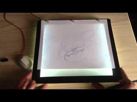 Inker mesa de luz ultra delgada youtube for Mesa de luz para dibujo