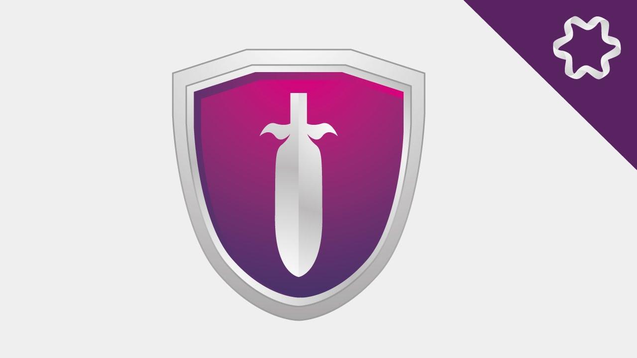 Illustrator Tutorial Making 3d Logo Shield For Beginner Quick Tips Create Shiny Shapes