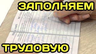 видео Как оформить вкладыш в трудовую книжку: образец
