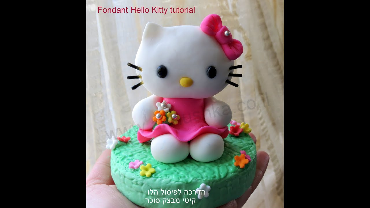 diy how to do fondant hello kitty fondant kitty tutorial. Black Bedroom Furniture Sets. Home Design Ideas