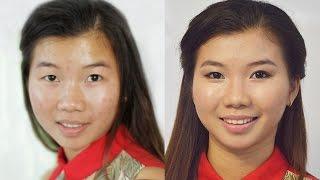 Макияж на каждый день для азиатского типа лица (makeup every day for Asian girls)