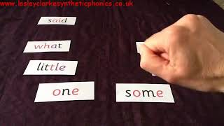 Letters and Sounds Phase 4: Tricky Word Target Practice