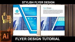 How to Design A Flyer | Poster Design | Adobe Illustrator Tutorial