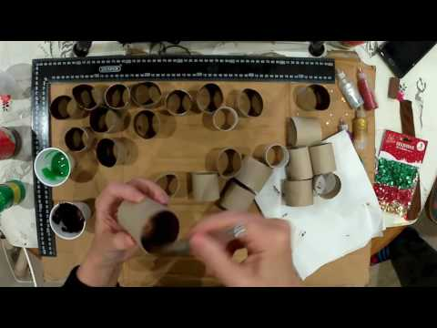 How to make an Advent Calendar from Toilet rolls