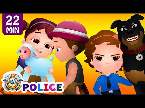 Thumbnail: ChuChu TV Police Chase Thief in Police Car to Save Mary's Little Lamb | ChuChu TV Surprise Eggs Toys