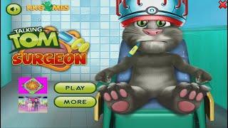 Игра Говорящий Кот Том Операция. Детские игры