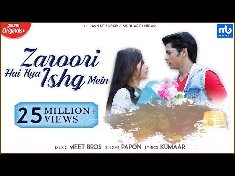 Zaroori Hai Kya Ishq Mein | Meet Bros, Papon |Gaana Originals| Jannat Zubair, Siddharth Nigam,Kumaar