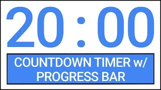 20 min Countdown Timer w/ Progress Bar #Timer #Countdown