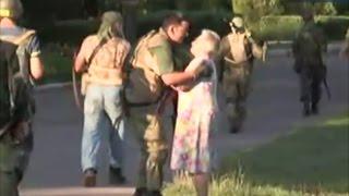 Украина.Освобожденный Лисичанск.Жители расцеловывают своих освободителей! Видео | Луганск