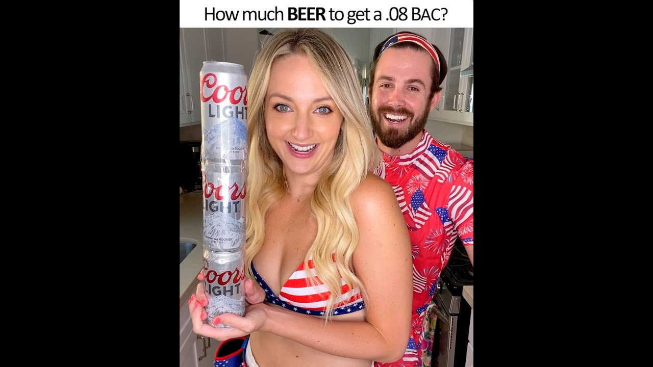 How many Coors Lights does it take to reach .08% BAC?