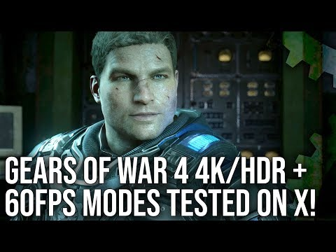 [4K HDR] Gears of War 4 - Xbox One X Enhanced - First Look!