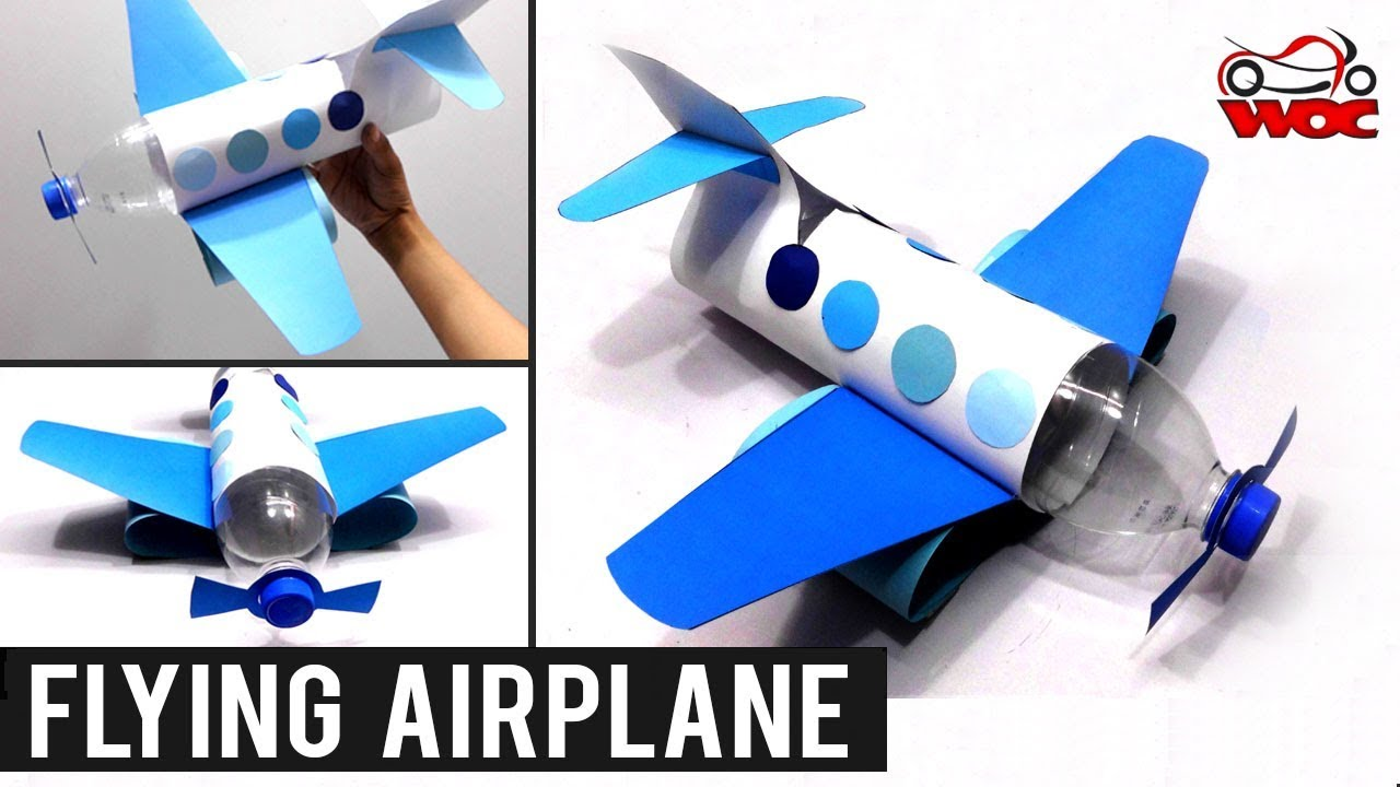 How to Make a Flying Airplane using Plastic Bottle | DIY Plastic Bottle |  Best out of Waste