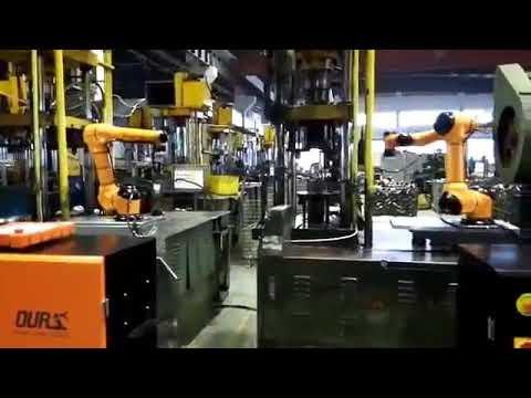 Progressive metal forming with collaborative robot AUBO