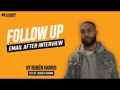 Follow Up Email After Interview (2020) By Rubén Harris #CareerKarma