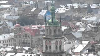 Достопримечательности Львова - Панорамный вид с горы Высокий замок(Высо́кий за́мок — средневековый замок на одной из возвышенностей в городе Львове., 2015-08-30T06:54:37.000Z)