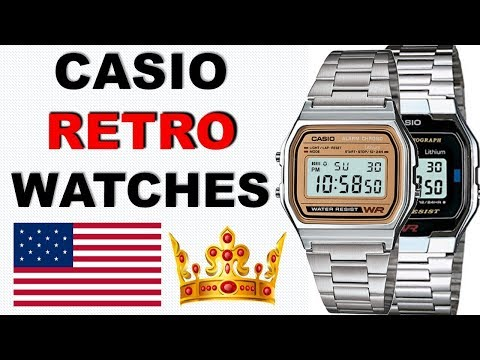 How To Set Time And ALARM A168W Casio Retro Watches