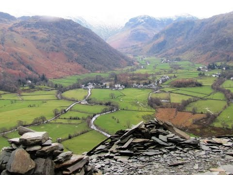 Lake District Country Walk   Borrowdale   Castle Crag from Rosthwaite round