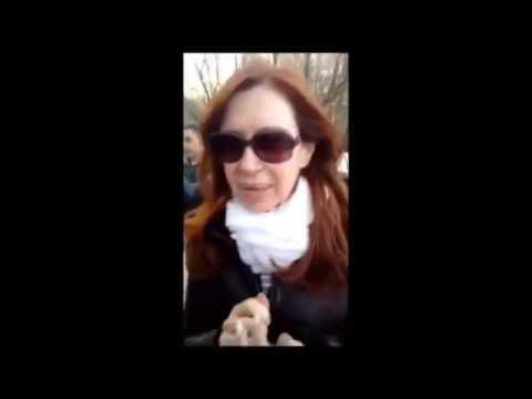 Cristina en El Calafate con turistas de Mar del Plata y Quilmes