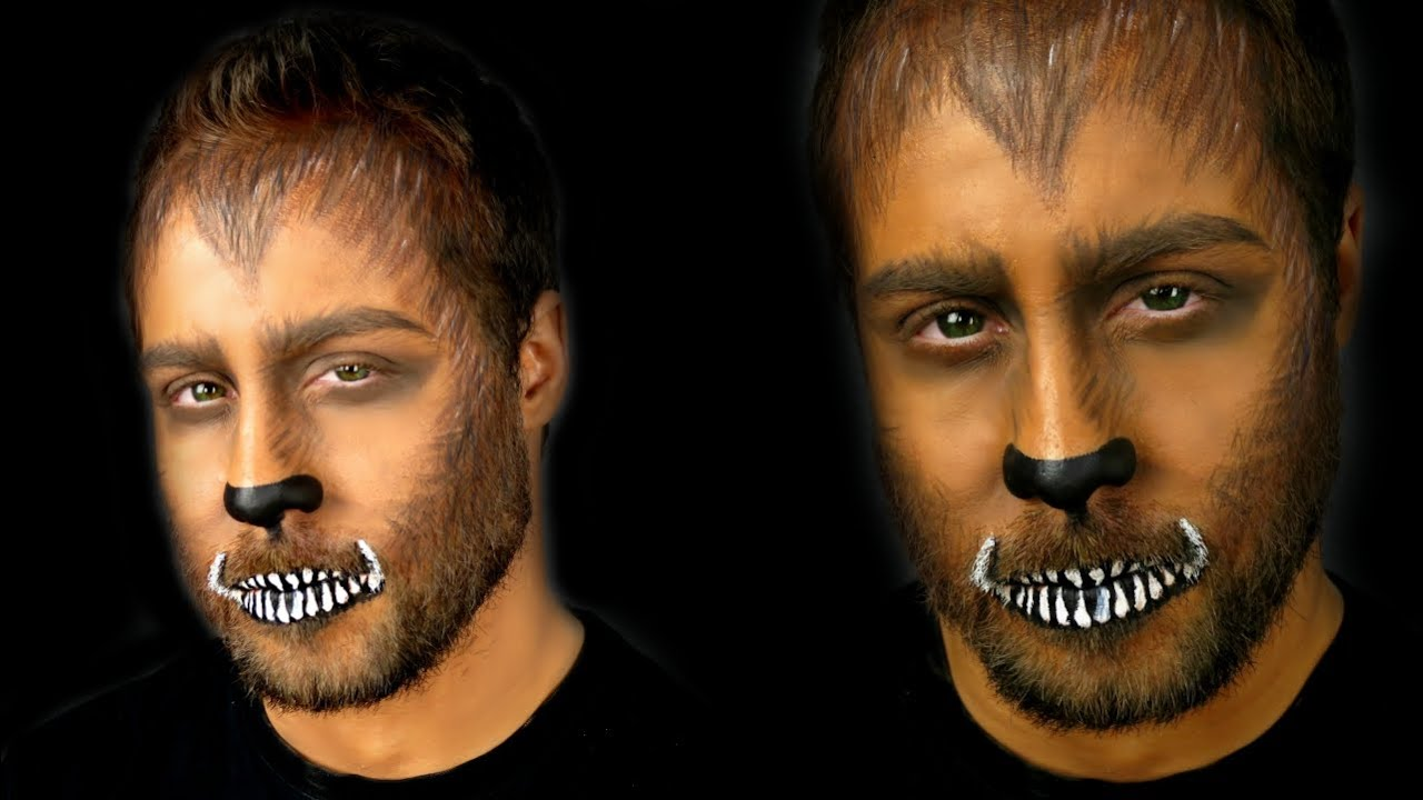 WEREWOLF MAKEUP TUTORIAL | Halloween Makeup for Men! - YouTube