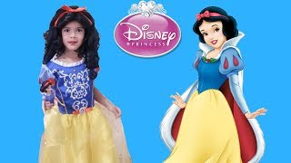 Sam doing DISNEY PRINCESS Snow White Dress UP and MakeUP