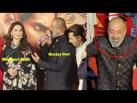 Sanjay Dutt GETS EMOTIONAL Talking With Ex GF Madhuri Dixit After So Long at KALANK Teaser Launch