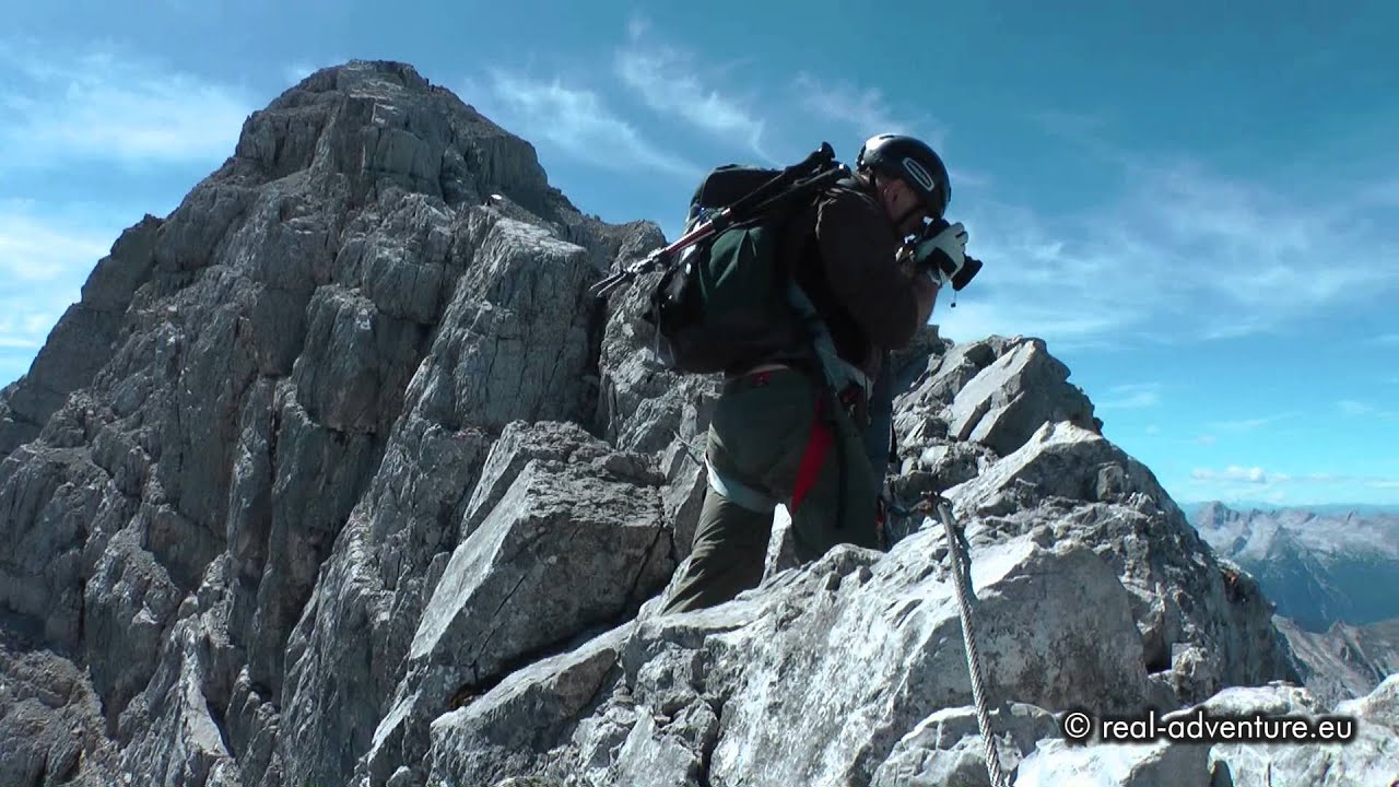 Klettersteigset Watzmann : Watzmann Überschreitung extrem spektakuläre gratpassage
