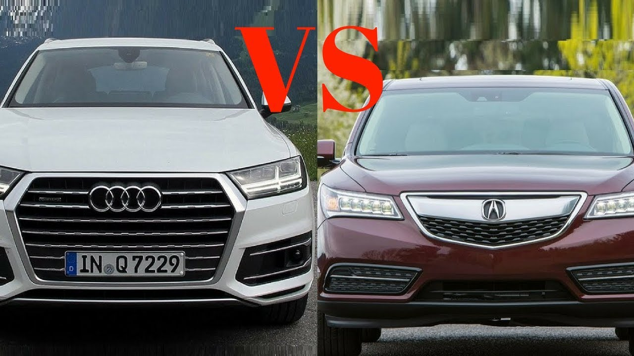 wow amazing 2018 acura mdx vs 2018 audi q7 head to head youtube. Black Bedroom Furniture Sets. Home Design Ideas