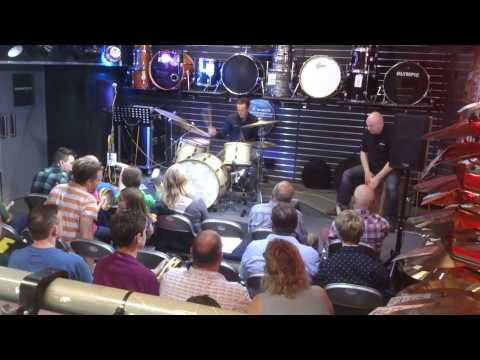 Luke Bullen Drum Clinic at Cookes Band Instruments, Norwich, July 12th 2014. (part 1)