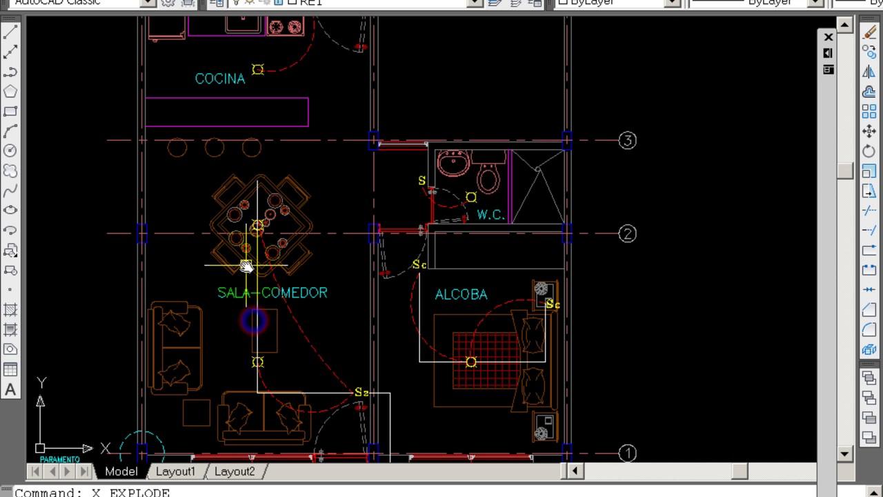 Curso B 225 Sico Autocad Eleboracion Plano Electrico Youtube