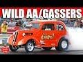 2016 Night of Fire ScottRods AA/Gassers Drag Racing Cars Burnout Video