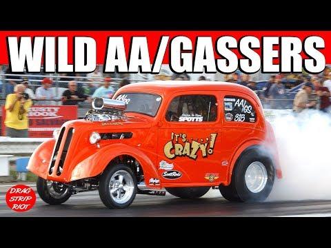 2016 Night of Fire Ohio Outlaw AA/Gassers Keystone Raceway Park Backup Girls Drag Racing Videos