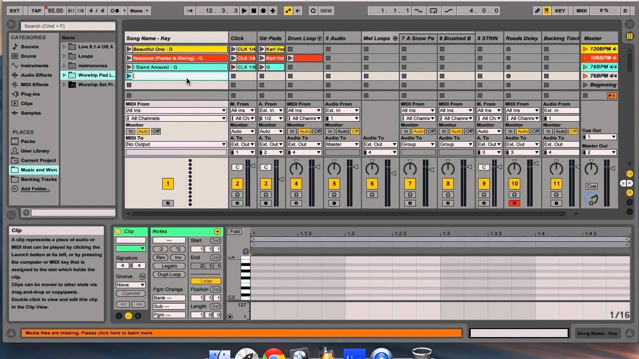 Building a Worship Set Using Ableton Live - ALEXON MUSIC