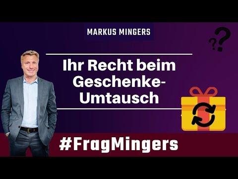 Ihr Recht beim Geschenke Umtausch   #FragMingers