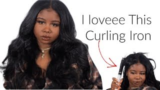 I Curled My Mirco-Link Sewin !   Natural 4a Hair   New Curling Iron Pt.2