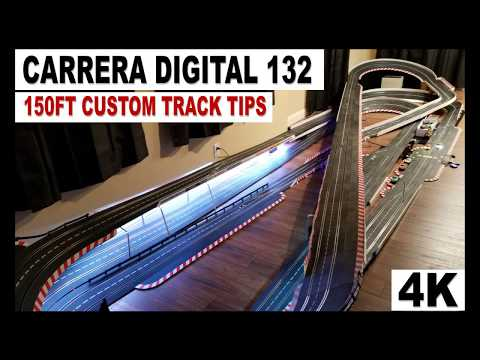 Carrera Digital 132 Track in 4K UHD Video – 150FT Custom Slot Car Track Tips